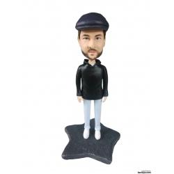 Personalisierte 3D Comicfigur vom Foto mit Hut