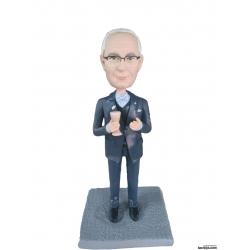 Personalisierte 3D Comicfigur vom Foto mit Weinglas