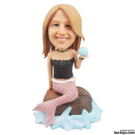 persönliche 3D Miniatur Figur Portrait Meerjungfrau
