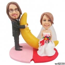 personalisierte Hochzeitsfiguren Brautpaar Mond
