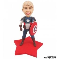 3D Figur mit eignen Gesicht Captain America