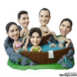 Personalisierte lustige Figur Familienfoto