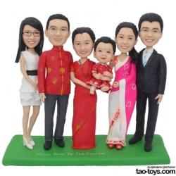 Personalisierte Figur Familienfoto