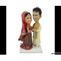 Indien Personalisierte Hochzeitstortenfiguren Liebespaar
