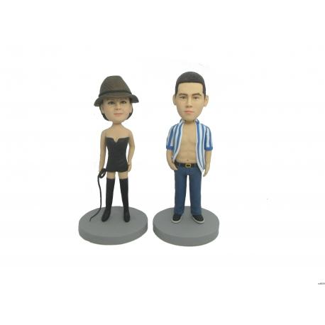 Lustige personalisierte 3D Comicfigur vom Foto Cowboy Figuren