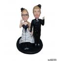 Lustige personalisierte 3D Comicfigur vom Foto Hochzeitstorte Figuren