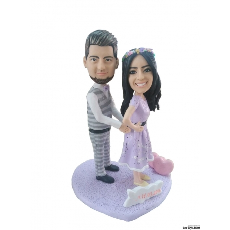 Personalisierte 3D Hochzeitstortenfiguren Liebespaar