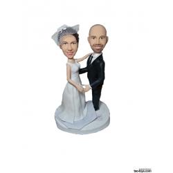 Personalisierte Hochzeitstortenfiguren für Liebespaar Hochzeitstorte Herzform
