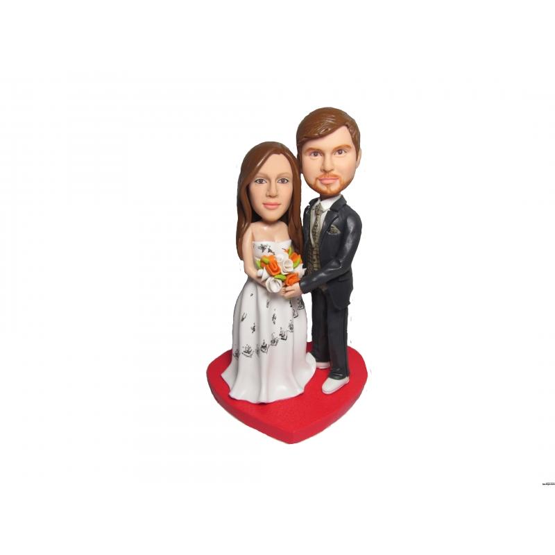 Personalisierte Hochzeitstortenfiguren Vom Foto Mit Eignen Gesicht