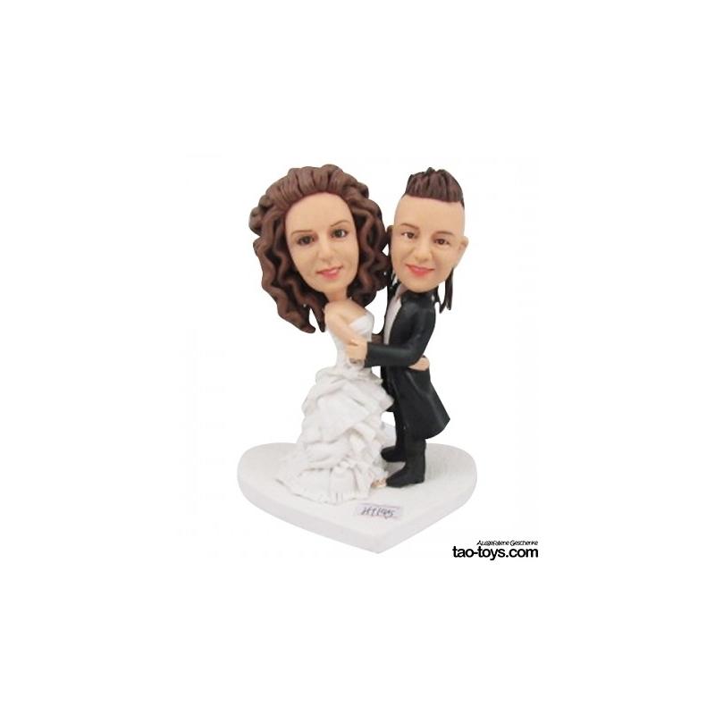 Personalisierte Hochzeitstortenfiguren Fuer Liebespaar