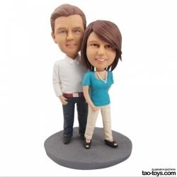 Personalisierte Hochzeitstortenfiguren für Liebespaar
