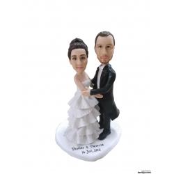 Personalisierte Hochzeitstortenfiguren Liebespaar Figur Hochzeitstorte umarmen