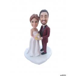 Personalisierte Hochzeitstortenfiguren Liebespaar Hochzeitstorte