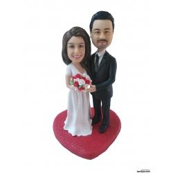 Personalisierte Hochzeitstortenfiguren Liebespaar Tonfigur Hochzeitstorte