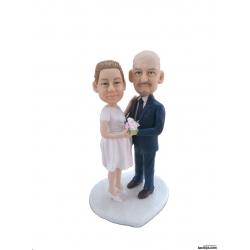 Personalisierte Hochzeitstortenfiguren Liebespaar