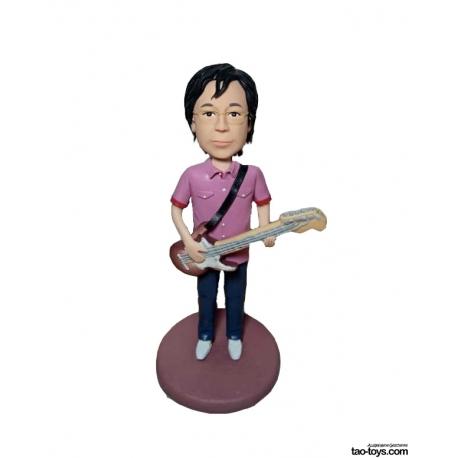Personalisierte 3D Comicfigur vom Foto mit Gitar