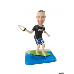 Personalisierte 3D Comicfigur vom Foto mit Surfing