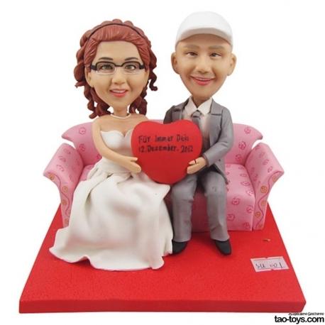 Personalisierte Tortenfiguren Goldene Hochzeit