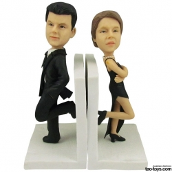 3d comicfigur vom foto Mr. Mrs. Smith