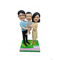 personalisierte Familien Figur Papa Mama und ich