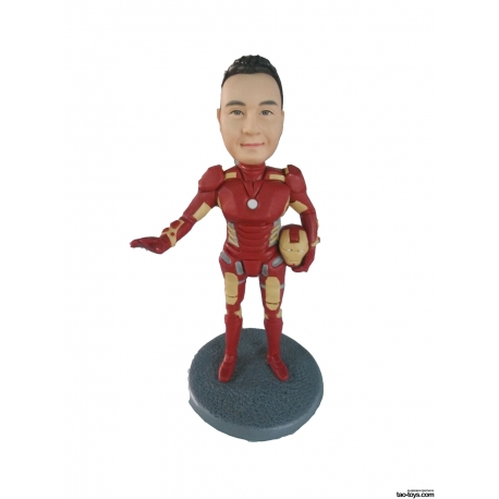 3D Figur mit eignen Gesicht Iron Man