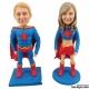 3D Figur mit eignen Gesicht Superman Superwoman