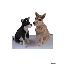 3D Figur persönliche Geschenke zwei Hunde