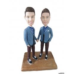 Personaliserte Tortenfiguren im Anzug Schwule und Lesben homosexuell