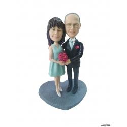 Personalisierte Hochzeitstortenfiguren für Liebespaar Hochzeitstorte 50 Anlass