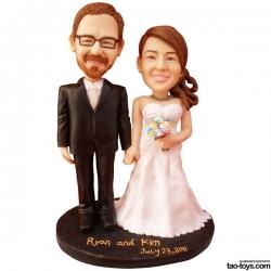 Personalisierte Hochzeitstortenfiguren für Liebespaar Hochzeitstorte Figuren