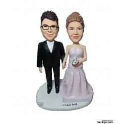Personalisierte Hochzeitstortenfiguren für Liebespaar Hochzeitstorte