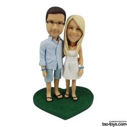 Personalisierte Hochzeitstortenfiguren Liebespaar Figur