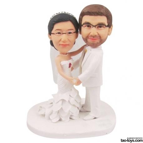 Personalisierte Hochzeitstortenfiguren Liebespaar Hochzeitstorte Herzform